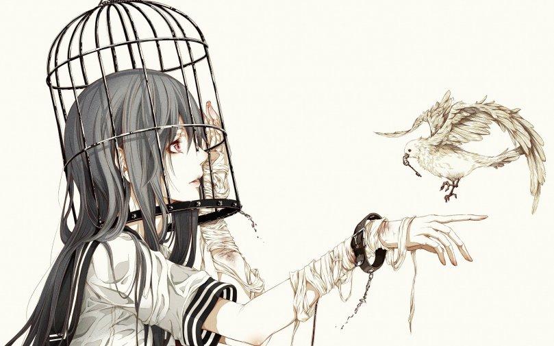 cage-woman-bird