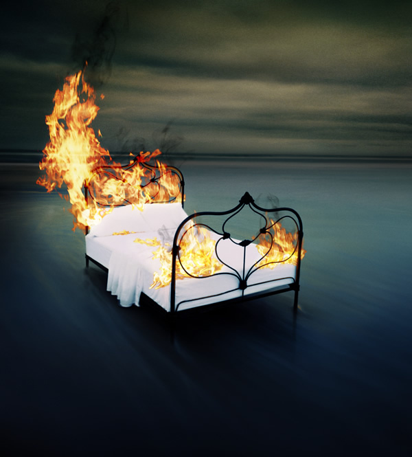 burning-bed